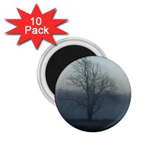 Foggy Tree 1 75  Button Magnet (10 Pack)