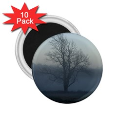 Foggy Tree 2.25  Button Magnet (10 pack)