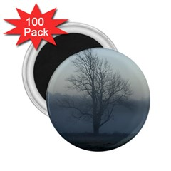 Foggy Tree 2 25  Button Magnet (100 Pack)