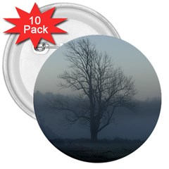 Foggy Tree 3  Button (10 pack)