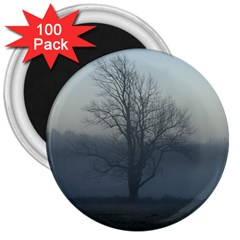 Foggy Tree 3  Button Magnet (100 pack)