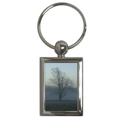 Foggy Tree Key Chain (rectangle)
