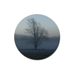 Foggy Tree Drink Coasters 4 Pack (Round)