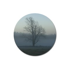 Foggy Tree Magnet 3  (Round)