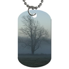 Foggy Tree Dog Tag (one Sided)