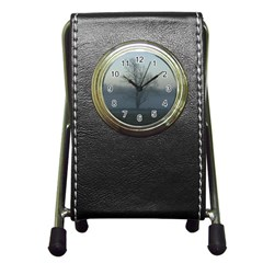 Foggy Tree Stationery Holder Clock