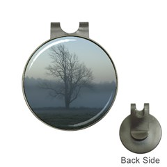 Foggy Tree Hat Clip with Golf Ball Marker