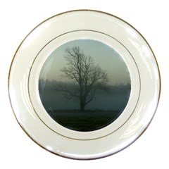 Foggy Tree Porcelain Display Plate