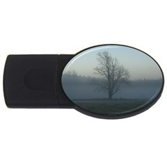 Foggy Tree 4GB USB Flash Drive (Oval)