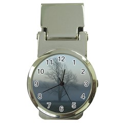 Foggy Tree Money Clip with Watch