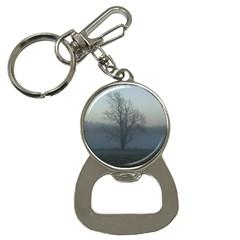 Foggy Tree Bottle Opener Key Chain