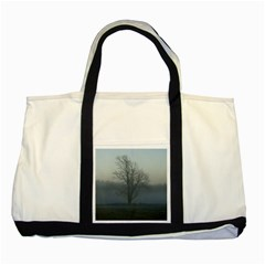 Foggy Tree Two Toned Tote Bag