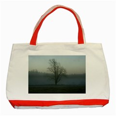 Foggy Tree Classic Tote Bag (Red)