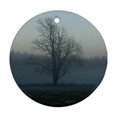 Foggy Tree Round Ornament (two Sides)