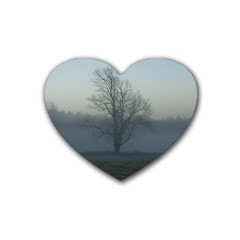 Foggy Tree Drink Coasters (Heart)