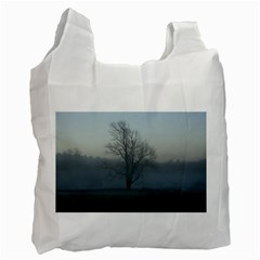 Foggy Tree Recycle Bag (one Side)