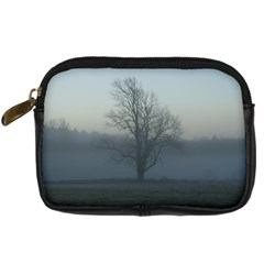 Foggy Tree Digital Camera Leather Case