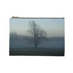 Foggy Tree Cosmetic Bag (large)