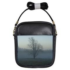 Foggy Tree Girl s Sling Bag