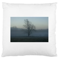 Foggy Tree Large Cushion Case (single Sided)