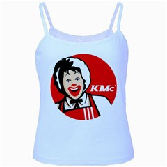 The Fast Food Republic Baby Blue Spaghetti Tank
