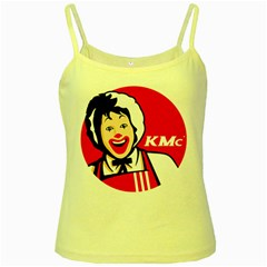 The Fast Food Republic Yellow Spaghetti Tank