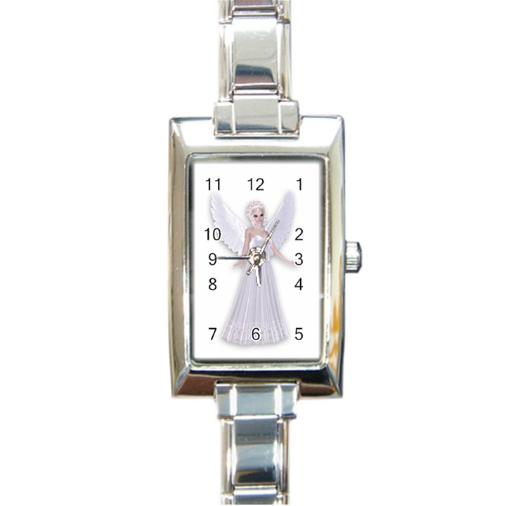 Beautiful fairy nymph faerie fairytale Rectangular Italian Charm Watch