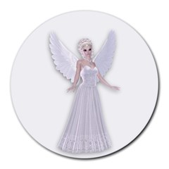 Beautiful fairy nymph faerie fairytale 8  Mouse Pad (Round)