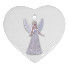 Beautiful fairy nymph faerie fairytale Heart Ornament