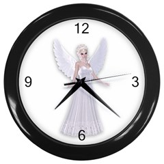 Beautiful Fairy Nymph Faerie Fairytale Wall Clock (black)