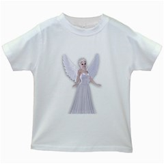 Beautiful fairy nymph faerie fairytale Kids' T-shirt (White)