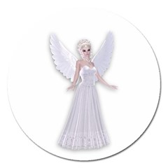 Beautiful Fairy Nymph Faerie Fairytale Magnet 5  (round)