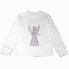 Beautiful Fairy Nymph Faerie Fairytale Kids Long Sleeve T Shirt