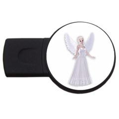 Beautiful Fairy Nymph Faerie Fairytale 4gb Usb Flash Drive (round)