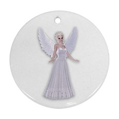 Beautiful fairy nymph faerie fairytale Round Ornament (Two Sides)