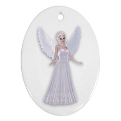 Beautiful fairy nymph faerie fairytale Oval Ornament (Two Sides)