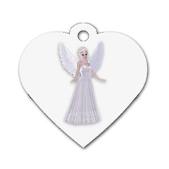 Beautiful fairy nymph faerie fairytale Dog Tag Heart (Two Sided)