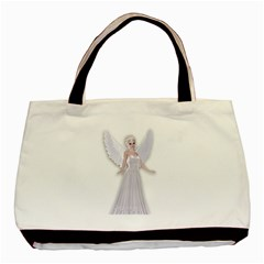 Beautiful fairy nymph faerie fairytale Twin-sided Black Tote Bag