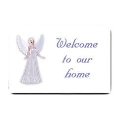 Beautiful fairy nymph faerie fairytale Small Door Mat