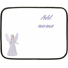 fairy nymph faerie in white dress magic Mini Fleece Blanket (Two Sided)