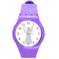 Beautiful fairy nymph faerie fairytale Plastic Sport Watch (Medium)