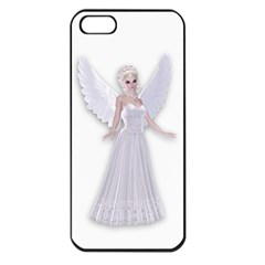 Beautiful fairy nymph faerie fairytale Apple iPhone 5 Seamless Case (Black)