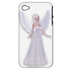 Beautiful fairy nymph faerie fairytale Apple iPhone 4/4S Hardshell Case (PC+Silicone)