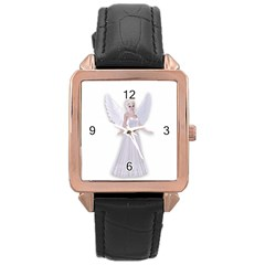 Beautiful Fairy Nymph Faerie Fairytale Rose Gold Leather Watch