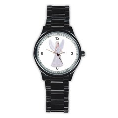 Beautiful fairy nymph faerie fairytale Sport Metal Watch (Black)