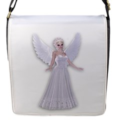 white fairy magic Flap Closure Messenger Bag (Small)