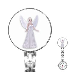 Beautiful fairy nymph faerie fairytale Stainless Steel Nurses Watch