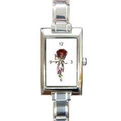 Fairy Magic Faerie In A Dress Rectangular Italian Charm Watch