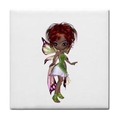 Fairy magic faerie in a dress Ceramic Tile