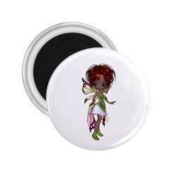 Fairy Magic Faerie In A Dress 2 25  Button Magnet